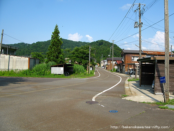 越後広田駅前通り