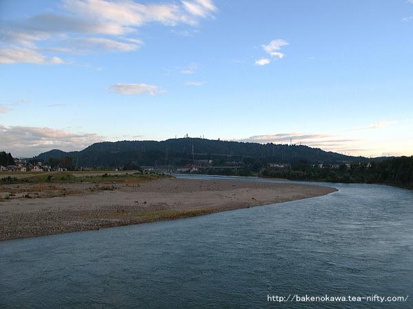 旭橋上から見た信濃川