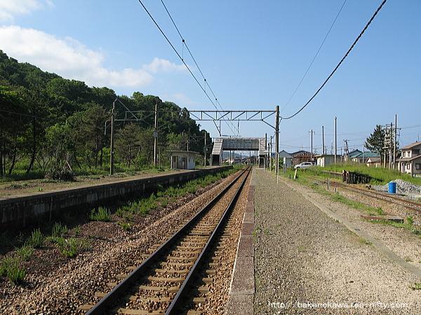 越後早川駅の下りホームその一