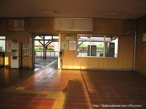 北長岡駅の旧駅舎内部その2