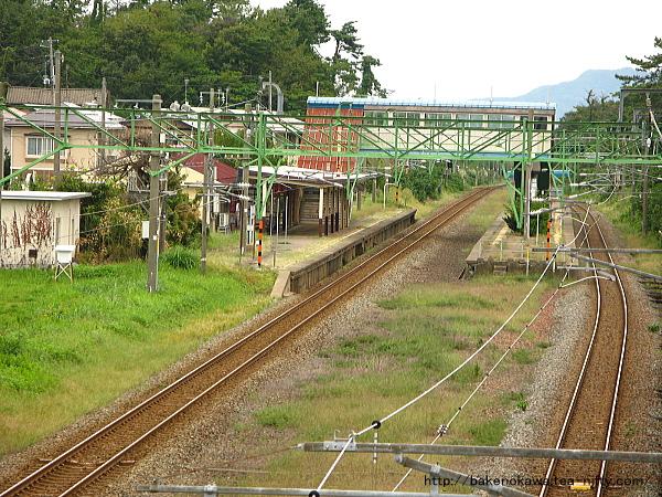 歩道橋上から見た潟町駅構内