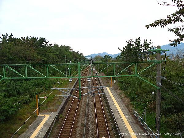 跨線橋上から見た構内その2
