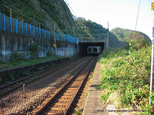 中越沖地震前の青海川駅下りホームその3