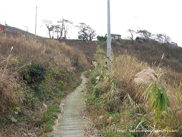 駅から米山大橋への道その1