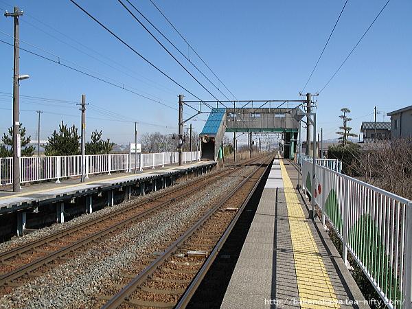 黒山駅の1番線その二