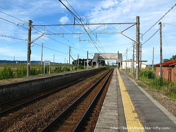 京ヶ瀬駅の1番ホームその一