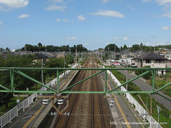 跨線橋上から見た新津方