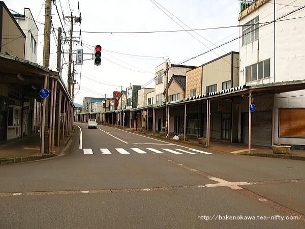 東柏崎駅付近の県道