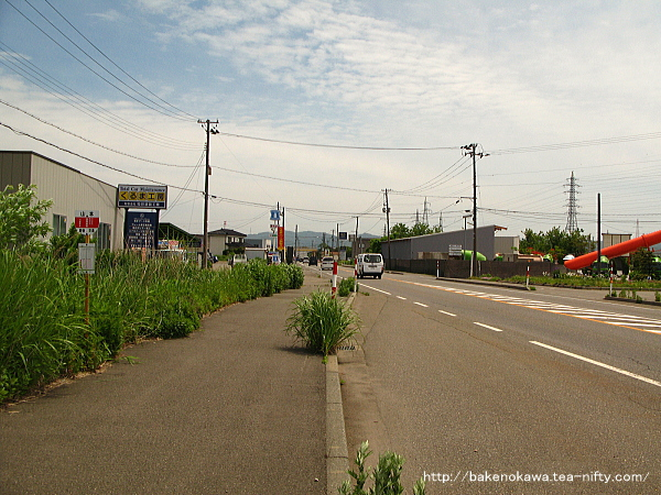 西中通駅付近の国道116号線