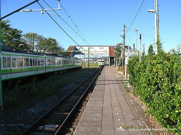 西山駅に進入する115系電車その1