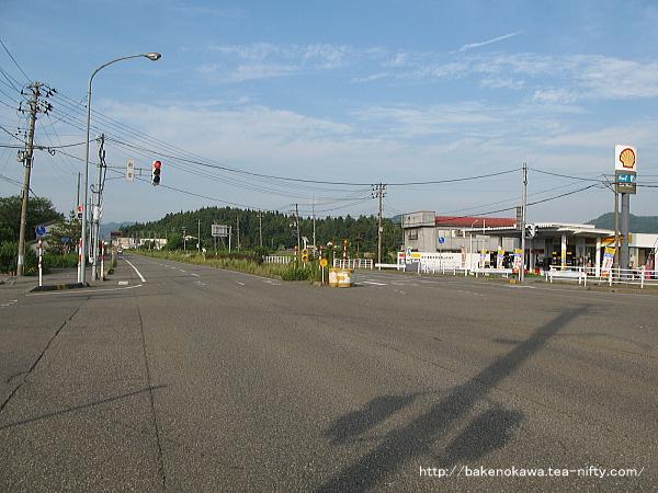 西山駅至近の国道116号線