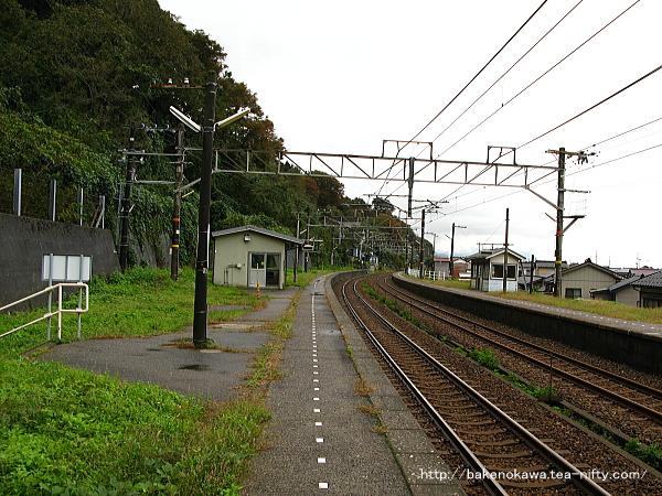 浦本駅の上りホームその2