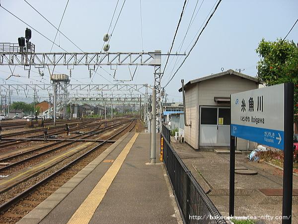 糸魚川駅の1番ホームその3