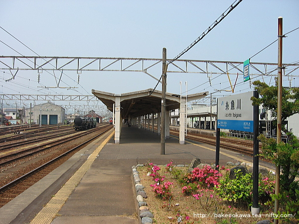 糸魚川駅の島式ホームその3