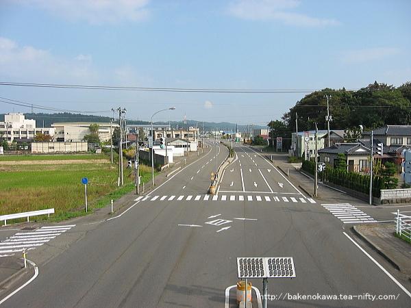 刈羽駅付近の国道116号線その2