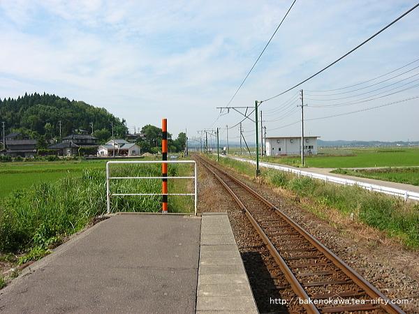 桐原駅のホームその2