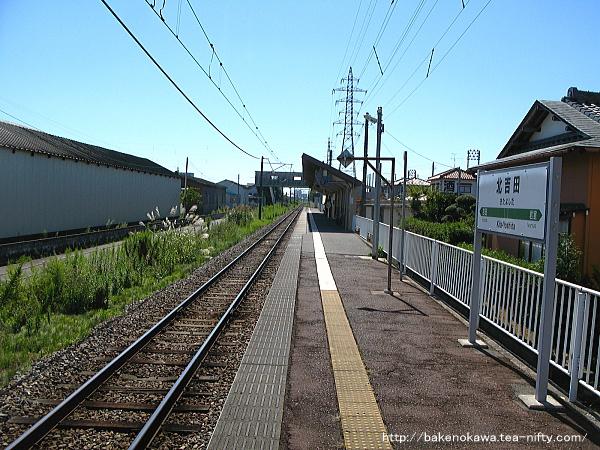 北吉田駅のホームその3