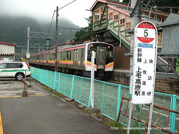 水上駅で待機中のE129系電車その3