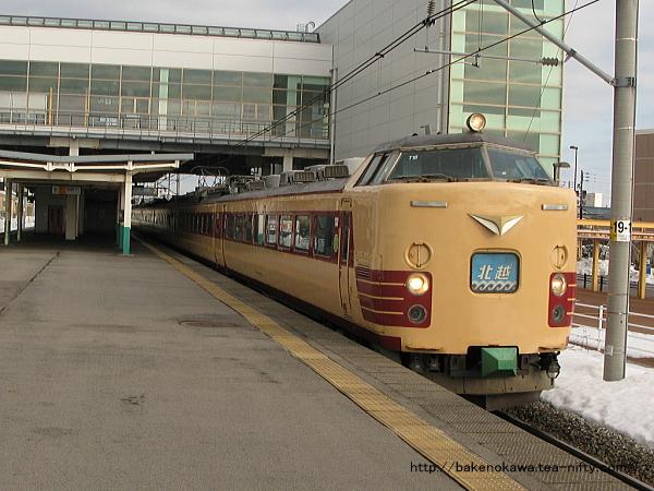 亀田駅を通過する485系電車特急「北越」その1