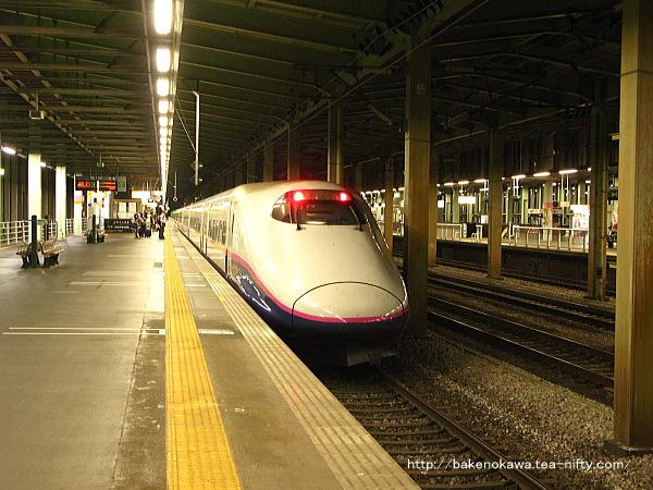 到着したE2系電車「とき」