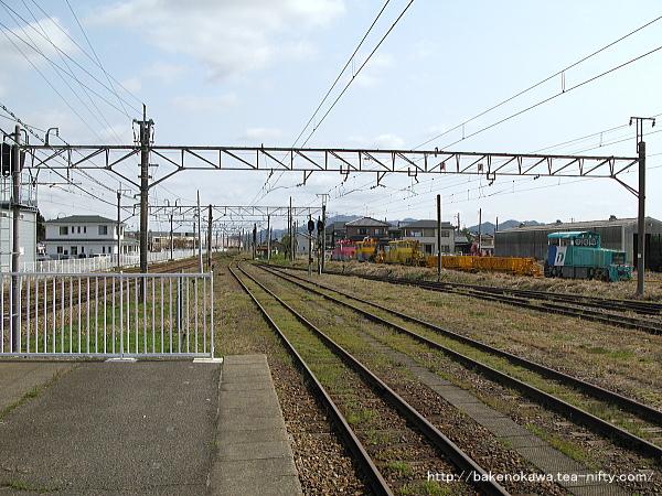 新発田駅の島式ホームその九