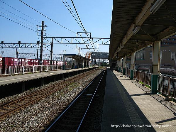 東新潟駅の1番線その1