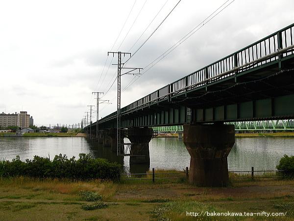 越後線の信濃川鉄橋