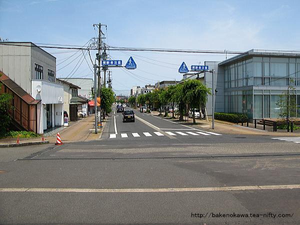 五泉駅前通りその1