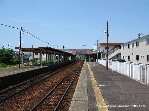 五泉駅の1番線その1
