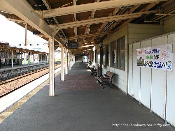 五泉駅の1番線その3