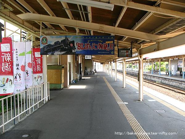 五泉駅の1番線その4