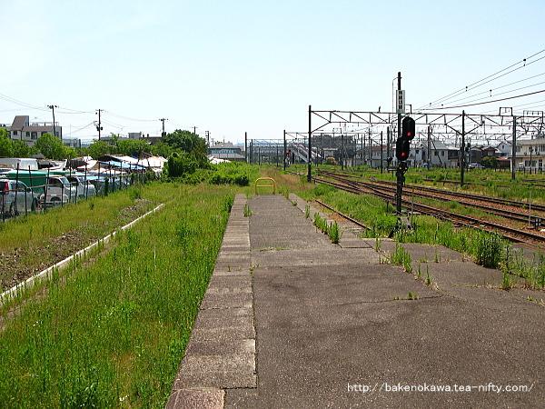新津駅の0番線跡その2