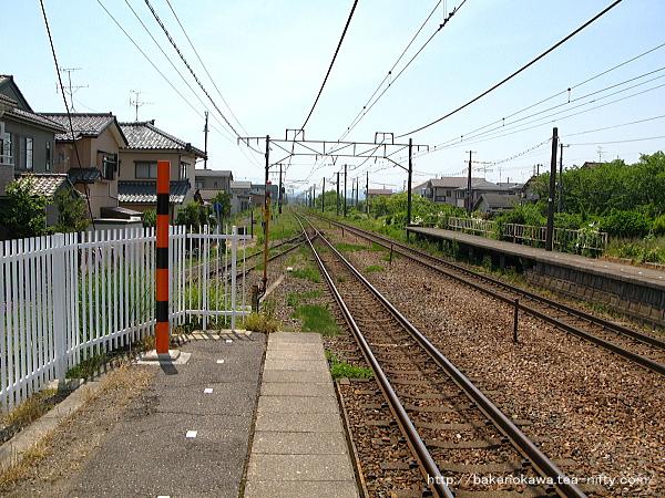 荻川駅の1番線その2
