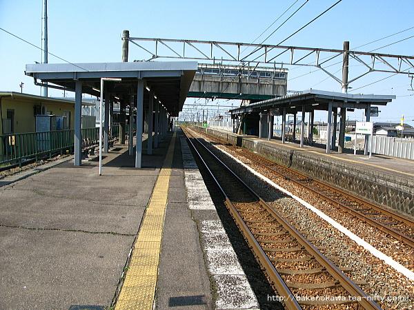 改築工事中の中条駅1番線その三