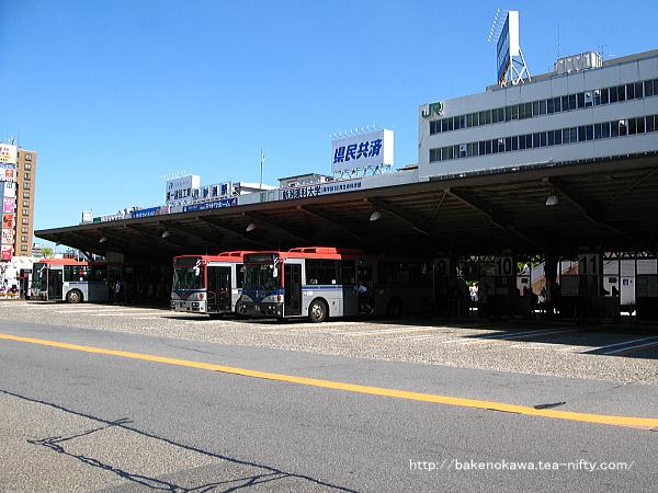 新潟駅に隣接する新潟交通のバス乗り場