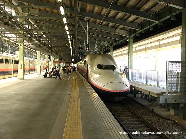 E4系電車「MAXとき」が新潟駅に入線