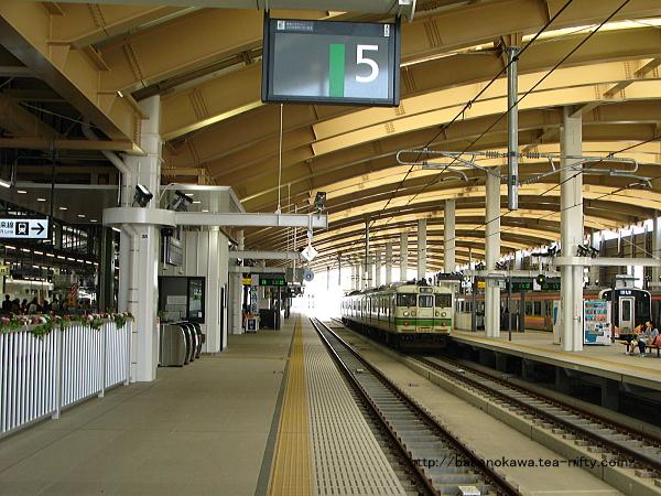新潟駅在来線高架5番ホームから見た構内その2