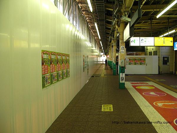 壁が築かれた新潟駅旧1番ホームその1