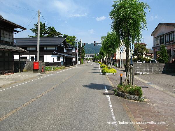 関川村のメインストリートの様子その1