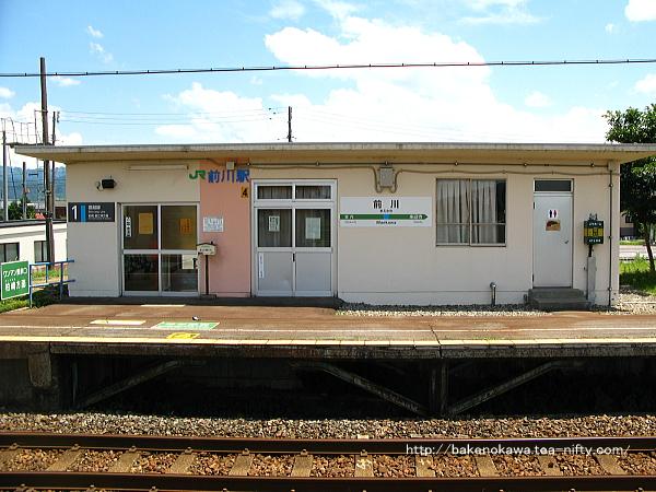 前川駅駅舎のホーム側の様子その2