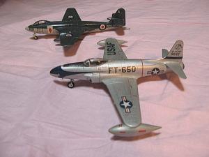 エアフィックス1/72「ロッキードF-80C」と「ホーカー・シーホーク」